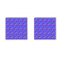 Background Mosaic Purple Blue Cufflinks (square) by Nexatart