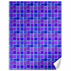 Background Mosaic Purple Blue Canvas 12  X 16   by Nexatart