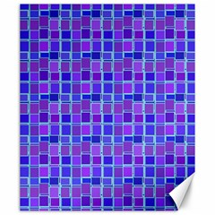 Background Mosaic Purple Blue Canvas 20  X 24   by Nexatart