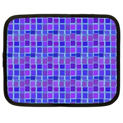 Background Mosaic Purple Blue Netbook Case (xxl)  by Nexatart