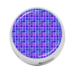 Background Mosaic Purple Blue 4-Port USB Hub (Two Sides)  by Nexatart
