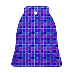 Background Mosaic Purple Blue Bell Ornament (two Sides) by Nexatart