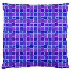 Background Mosaic Purple Blue Large Cushion Case (two Sides) by Nexatart