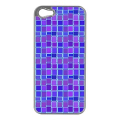 Background Mosaic Purple Blue Apple Iphone 5 Case (silver) by Nexatart