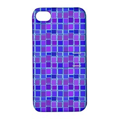 Background Mosaic Purple Blue Apple Iphone 4/4s Hardshell Case With Stand by Nexatart