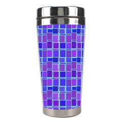 Background Mosaic Purple Blue Stainless Steel Travel Tumblers by Nexatart