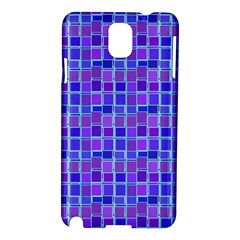 Background Mosaic Purple Blue Samsung Galaxy Note 3 N9005 Hardshell Case