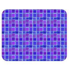 Background Mosaic Purple Blue Double Sided Flano Blanket (medium)  by Nexatart