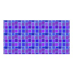 Background Mosaic Purple Blue Satin Shawl