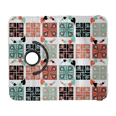 Mint Black Coral Heart Paisley Galaxy S3 (flip/folio) by Nexatart