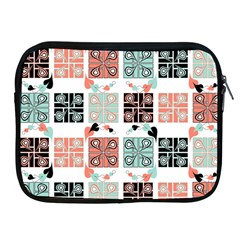 Mint Black Coral Heart Paisley Apple Ipad 2/3/4 Zipper Cases