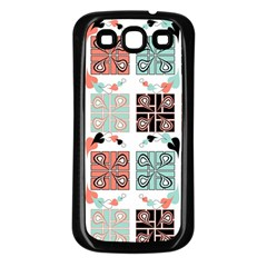 Mint Black Coral Heart Paisley Samsung Galaxy S3 Back Case (black)