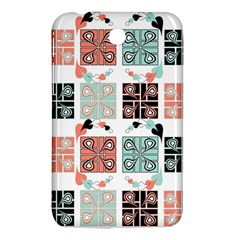 Mint Black Coral Heart Paisley Samsung Galaxy Tab 3 (7 ) P3200 Hardshell Case  by Nexatart
