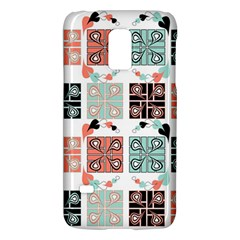 Mint Black Coral Heart Paisley Galaxy S5 Mini by Nexatart