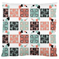 Mint Black Coral Heart Paisley Standard Flano Cushion Case (one Side) by Nexatart