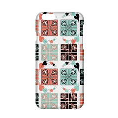 Mint Black Coral Heart Paisley Apple Iphone 6/6s Hardshell Case