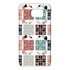 Mint Black Coral Heart Paisley Galaxy S6 by Nexatart