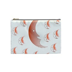 Moon Moonface Pattern Outlines Cosmetic Bag (medium)  by Nexatart