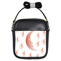 Moon Moonface Pattern Outlines Girls Sling Bags by Nexatart