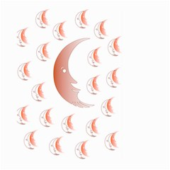 Moon Moonface Pattern Outlines Large Garden Flag (two Sides) by Nexatart