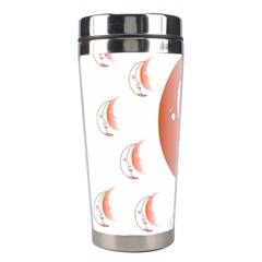 Moon Moonface Pattern Outlines Stainless Steel Travel Tumblers by Nexatart