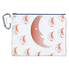 Moon Moonface Pattern Outlines Canvas Cosmetic Bag (xxl) by Nexatart