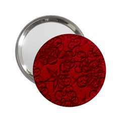 Christmas Background Red Star 2 25  Handbag Mirrors
