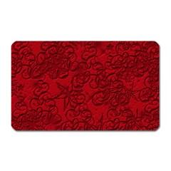 Christmas Background Red Star Magnet (rectangular)