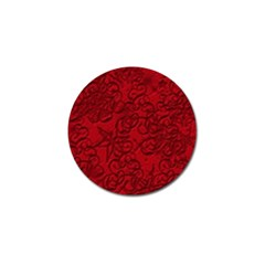 Christmas Background Red Star Golf Ball Marker (4 Pack)