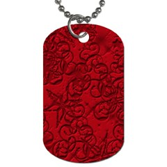 Christmas Background Red Star Dog Tag (two Sides)