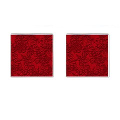 Christmas Background Red Star Cufflinks (square) by Nexatart