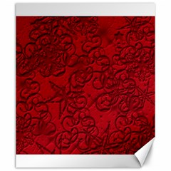 Christmas Background Red Star Canvas 20  X 24