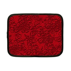 Christmas Background Red Star Netbook Case (small)