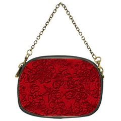 Christmas Background Red Star Chain Purses (one Side)