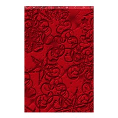 Christmas Background Red Star Shower Curtain 48  X 72  (small)  by Nexatart