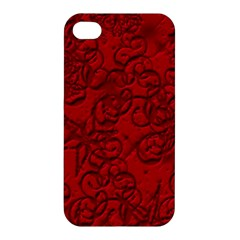 Christmas Background Red Star Apple Iphone 4/4s Premium Hardshell Case by Nexatart