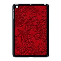Christmas Background Red Star Apple Ipad Mini Case (black)