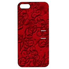 Christmas Background Red Star Apple Iphone 5 Hardshell Case With Stand by Nexatart