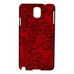 Christmas Background Red Star Samsung Galaxy Note 3 N9005 Hardshell Case