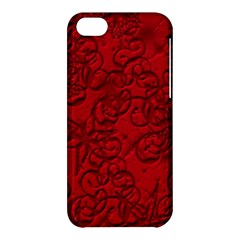 Christmas Background Red Star Apple Iphone 5c Hardshell Case by Nexatart
