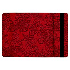 Christmas Background Red Star Ipad Air Flip
