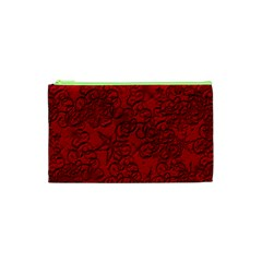 Christmas Background Red Star Cosmetic Bag (xs) by Nexatart