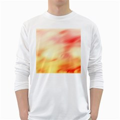 Background Abstract Texture Pattern White Long Sleeve T Shirts