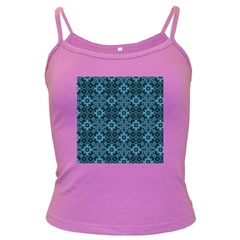 Abstract Pattern Design Texture Dark Spaghetti Tank