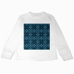 Abstract Pattern Design Texture Kids Long Sleeve T Shirts