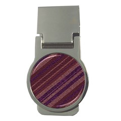Stripes Course Texture Background Money Clips (round)