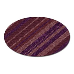 Stripes Course Texture Background Oval Magnet by Nexatart