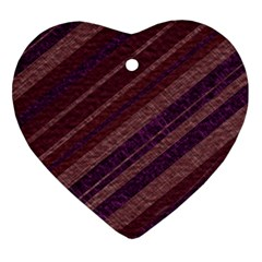 Stripes Course Texture Background Heart Ornament (two Sides) by Nexatart