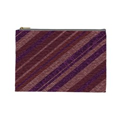 Stripes Course Texture Background Cosmetic Bag (large)