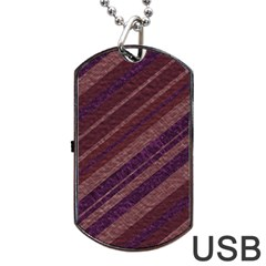 Stripes Course Texture Background Dog Tag Usb Flash (one Side) by Nexatart